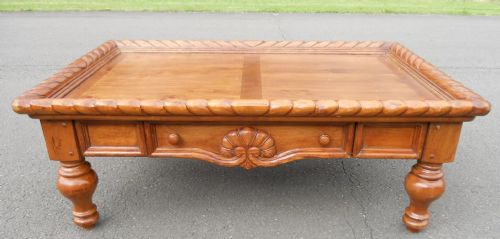 Large Walnut Victorian Style Coffee Table